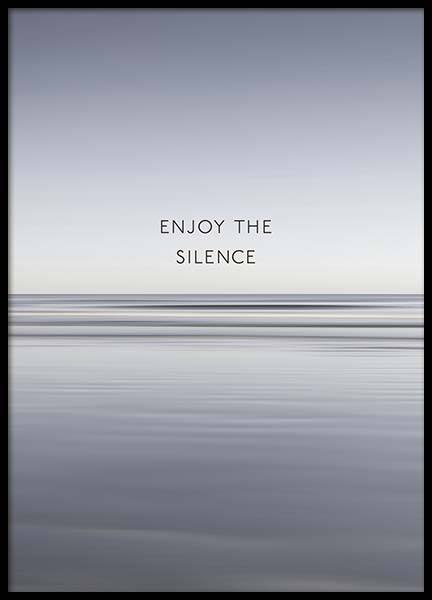 Enjoy The Silence Poster en el grupo  Pósters / Mindfulness con Desenio AB (10300)