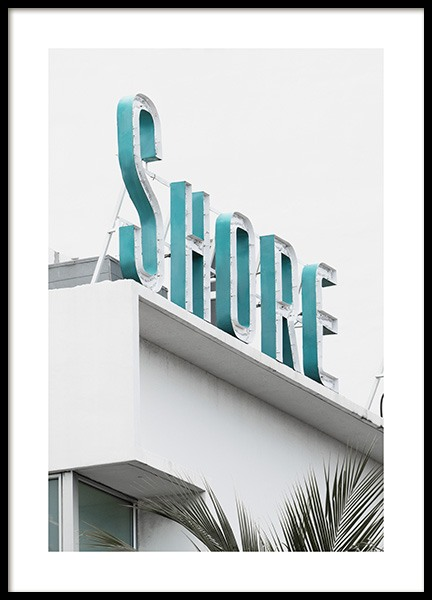Shore Sign Poster en el grupo Studio / Coast to coast / Studio Miami con Desenio AB (10765)