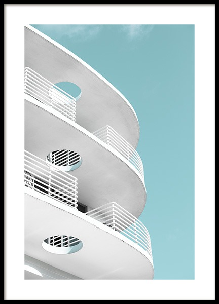 Art Deco Ocean Drive Poster en el grupo Studio Collections / Studio Coast to Coast / Miami con Desenio AB (10766)