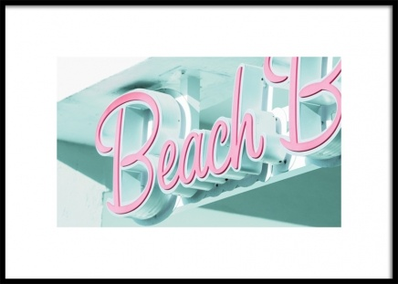 Miami Beach Neon Poster en el grupo Studio Collections / Studio Coast to Coast / Miami con Desenio AB (10774)
