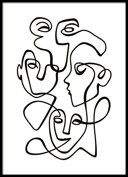 Abstract Line People No2 Poster en el grupo  Pósters / Ilustraciones con Desenio AB (10841)