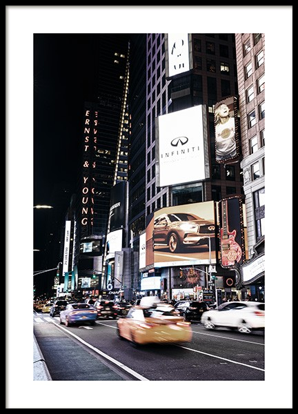 Times Square by Night Poster en el grupo Studio Collections / Studio Cosmopolitan / New York con Desenio AB (11322)