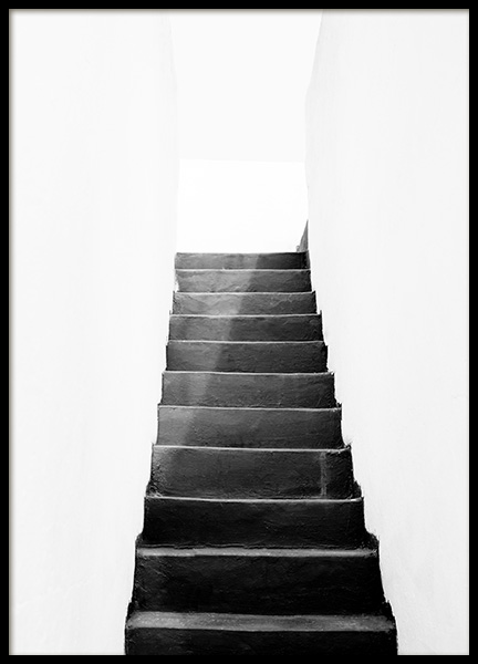 Black and White Stairs Poster en el grupo  Pósters / Blanco y negro con Desenio AB (11484)