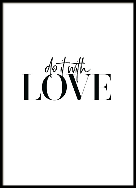 Do it with Love Poster en el grupo  Pósters / Cuadros con texto con Desenio AB (12607)