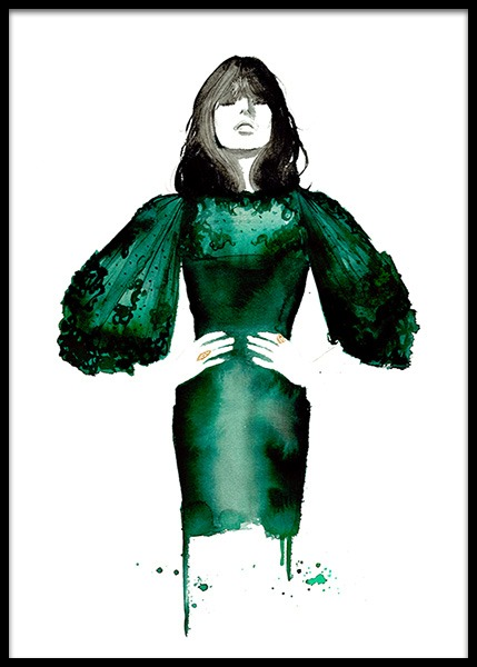 The Emerald Dress Poster en el grupo  Pósters / Arte con Desenio AB (2145)