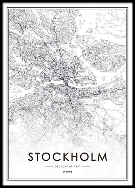 stockholm karta poster