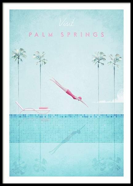 Visit Palm Springs Poster en el grupo  Pósters / Handpicked / Henry Rivers con Desenio AB (pre0043)