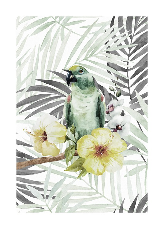 Tropical Bird No2 Poster / Animales con Desenio AB (10649)