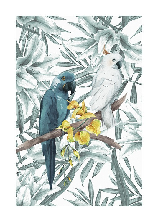 Tropical Bird No3 Poster / Animales con Desenio AB (10650)