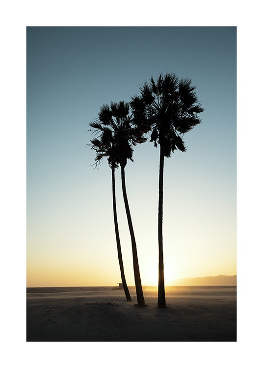 Los Angeles Sunset Poster / Tropical con Desenio AB (10786)