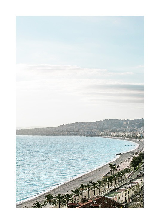 Beach View in Nice Poster / Naturaleza con Desenio AB (10897)