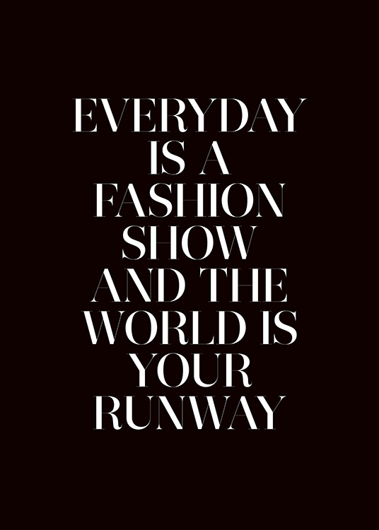 The World is Your Runway Poster / Cuadros con texto con Desenio AB (11139)