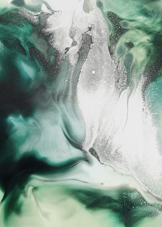 Abstract Green Painting Poster / Arte con Desenio AB (11264)