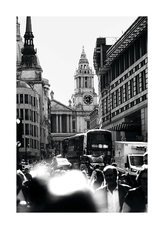 Streets of London Poster / Blanco y negro con Desenio AB (11365)