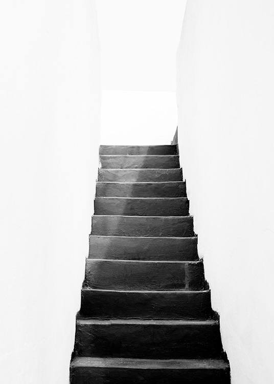 Black and White Stairs Poster / Blanco y negro con Desenio AB (11484)