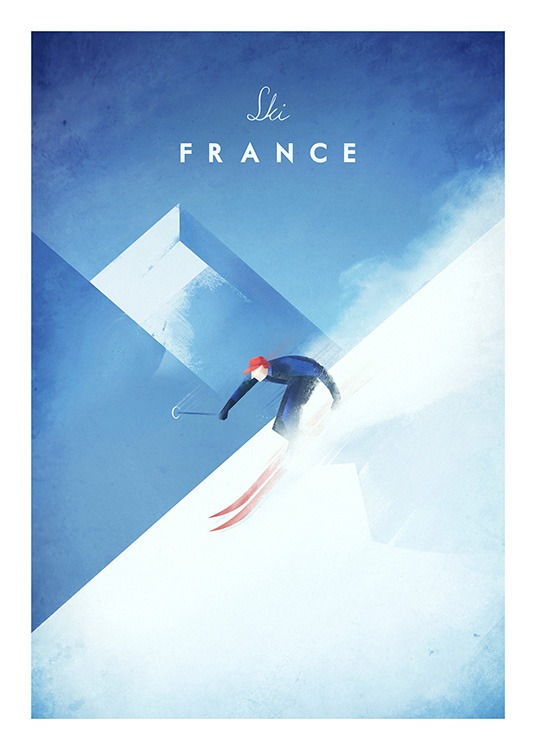 Ski France Poster / Henry Rivers con Desenio AB (11984)