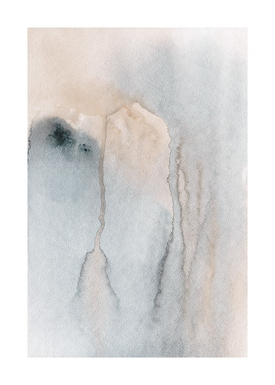 Flowing Watercolor Poster / Arte abstracto con Desenio AB (13677)