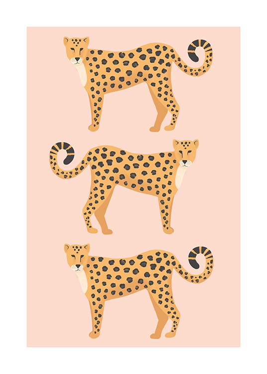 Three Leopards Poster / Animales con Desenio AB (13781)
