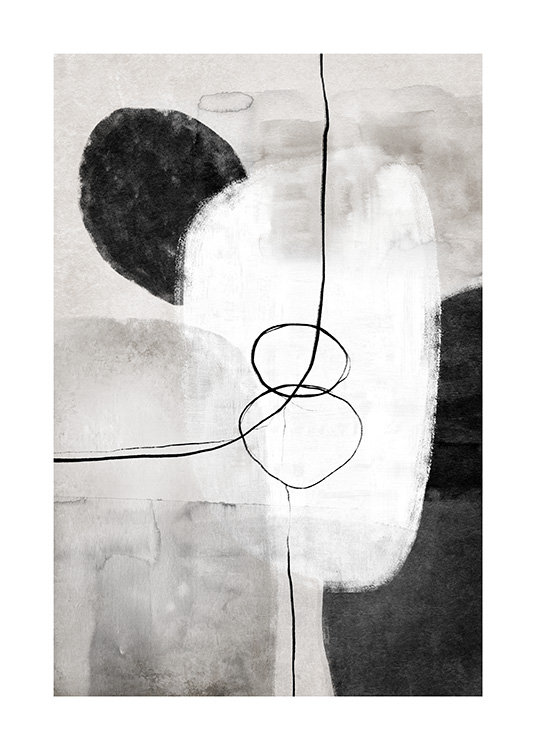 Painted Shapes No1 Poster / Arte abstracto con Desenio AB (13809)