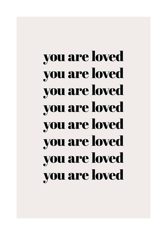 You Are Loved Repeat Poster / Cuadros con texto con Desenio AB (13825)