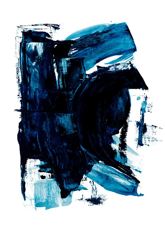 Blue Painting No2 Poster / Arte abstracto con Desenio AB (13842)