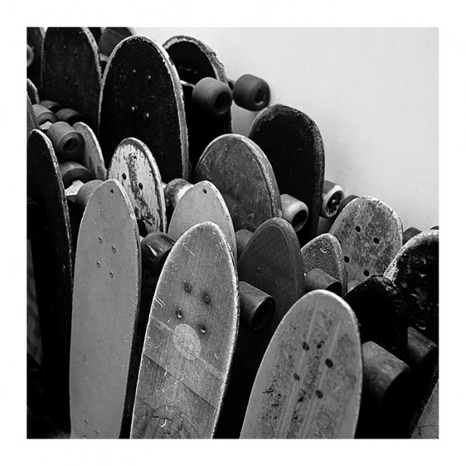 Rows Of Skateboards Poster / Pósters infantiles con Desenio AB (2067)
