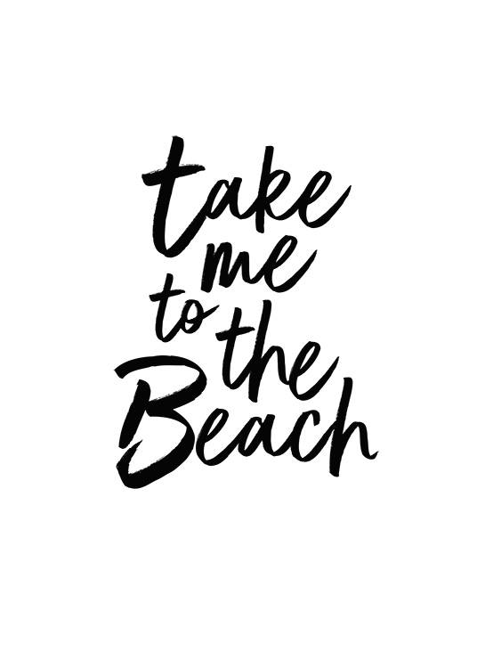 Take Me To The Beach Poster / Cuadros con texto con Desenio AB (2253)