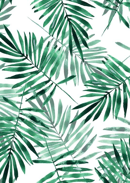 Palm Leaves Pattern Poster / Arte con Desenio AB (2286)