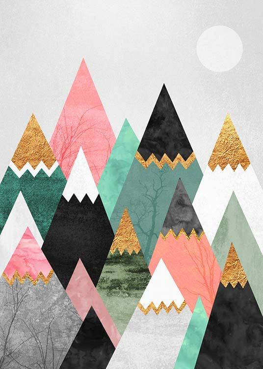Pretty Mountains Poster / Arte con Desenio AB (2379)