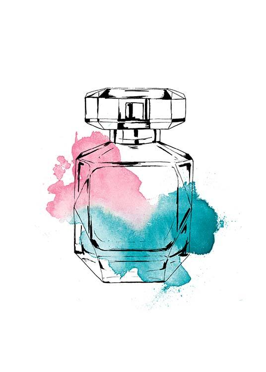 Perfume Color Three Poster / Moda con Desenio AB (2586)