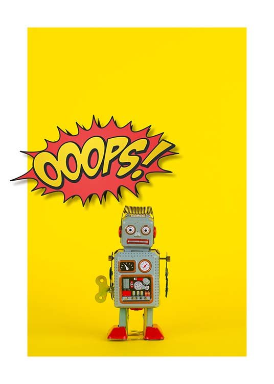 Ooops Robot Poster / Pósters infantiles con Desenio AB (2692)