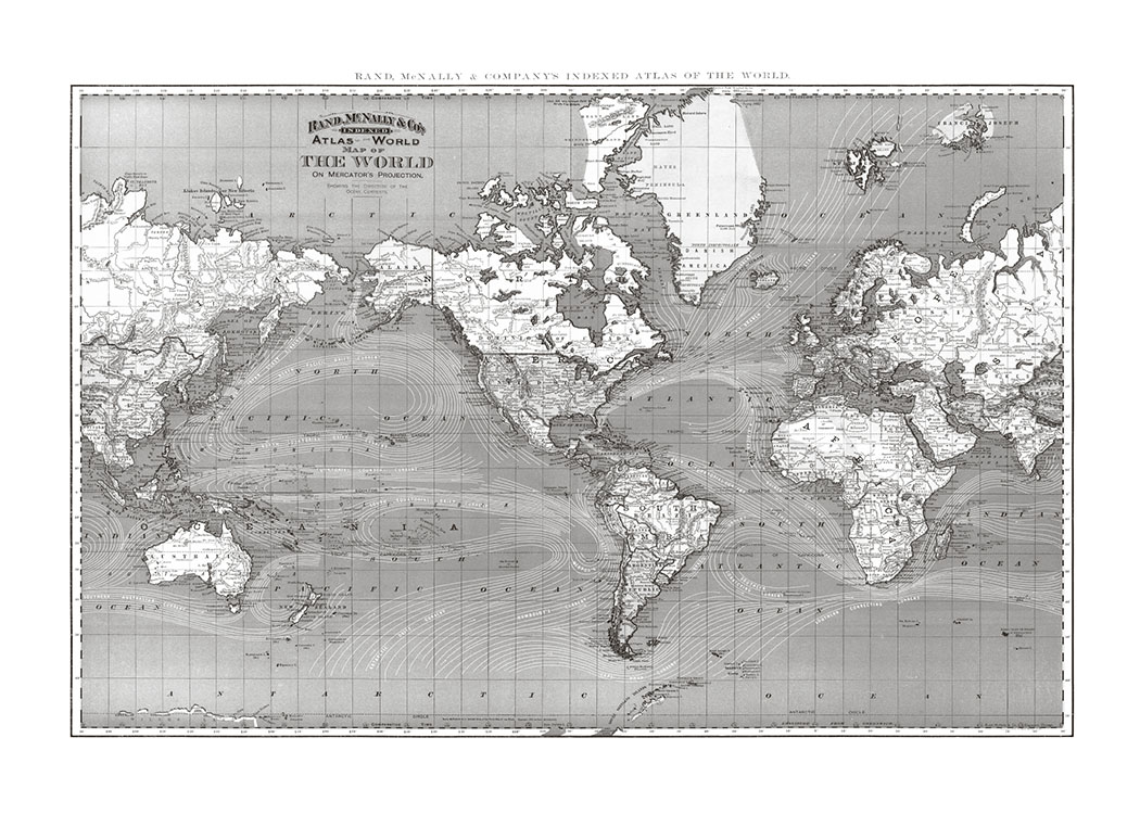 B&W The World, Affisch / Blanco y negro con Desenio AB (7492)