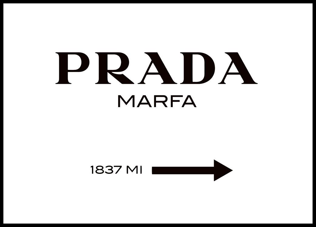 Poster rótulo Prada Marfa en blanco y negro. Cuadro y Lamina Gossip ...