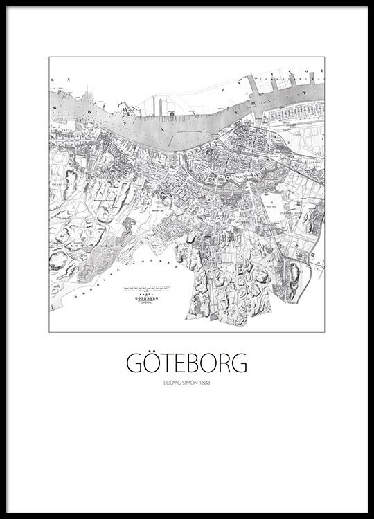 Goteborgs Karta Poster