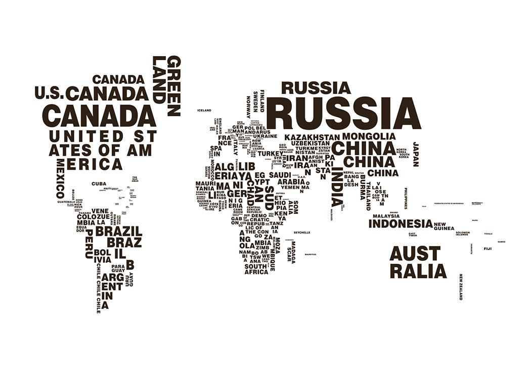 World map text poster gumiabroncs Image collections