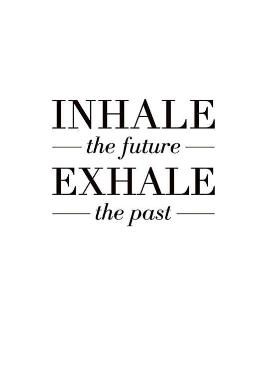 Inhale The Future, Poster / Motivación con Desenio AB (8328)