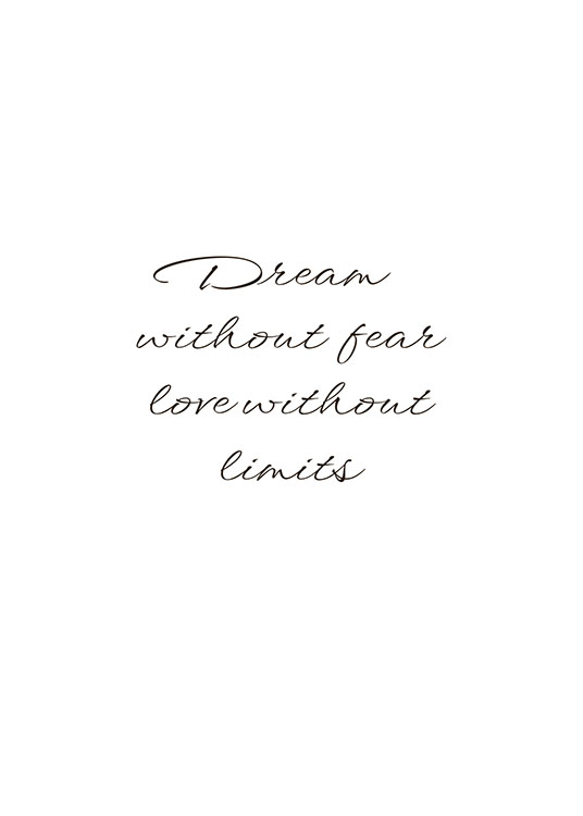 Dream Without Fear, Poster / Cuadros con texto con Desenio AB (8342)