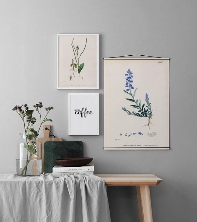 decoracin de pared y collage con cuadros en la cocina crea una decoracin elegante con cuadros y psters para la cocina