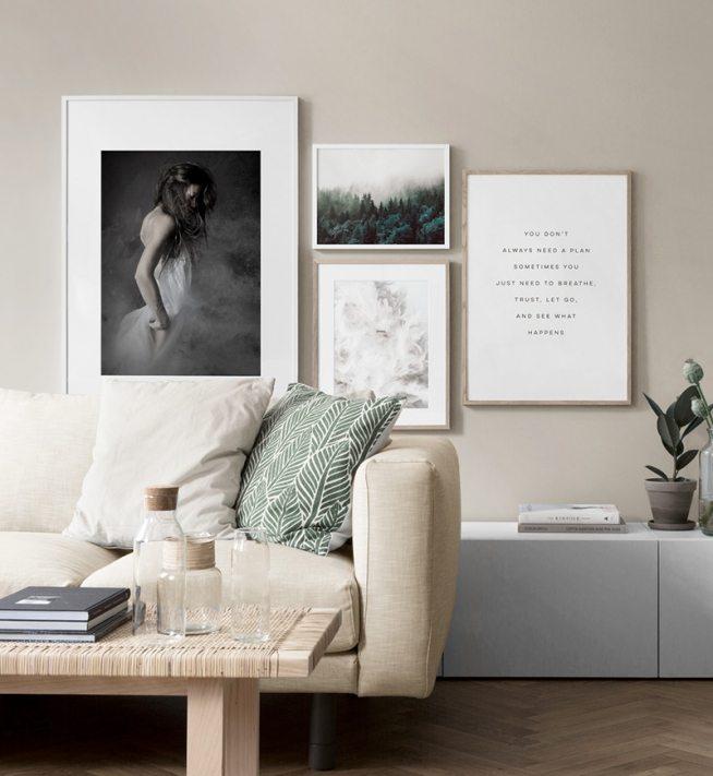 inspiracin para las de pared y el collage con cuadros cuelga cuadros