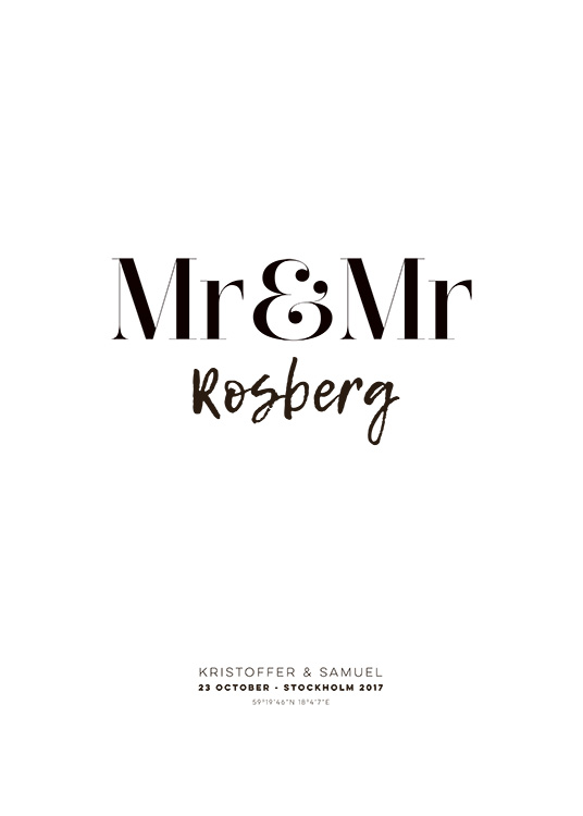 Mr and Mr Personal Poster / Pósters personalizados con Desenio AB (pp0013)